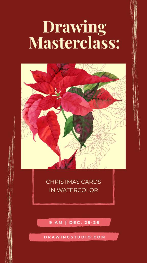 Christmas Poinsettia red flower — Crea un design