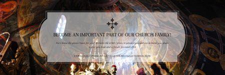 Evangelist Catholic Church Invitation Email header Modelo de Design