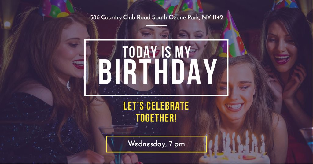 Birthday party with People Celebrating — Crea un design