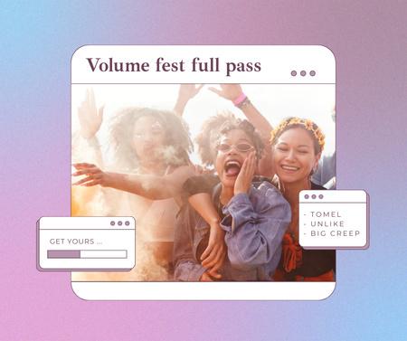 Plantilla de diseño de Happy Young People on Summer Festival Facebook