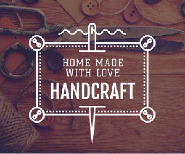 Szablon projektu advertisement poster for store of handcrafted goods  Medium Rectangle