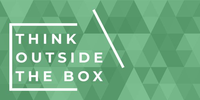 Think outside the box citation Image Modelo de Design