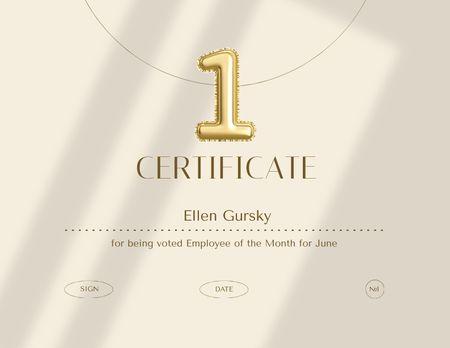 Template di design Employee of Month Award Certificate