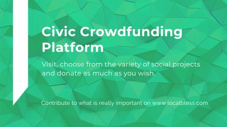 Crowdfunding Platform ad on Stone pattern FB event cover Modelo de Design