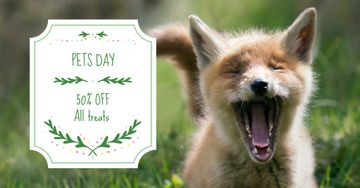 Pets Day Offer with Cute Dog