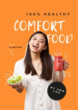 Nutritionist Consultation offer with Smiling Girl