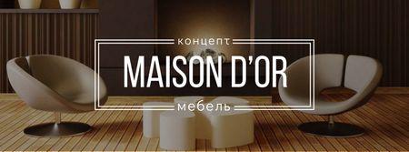 Home decor design with modern furniture Facebook cover – шаблон для дизайна