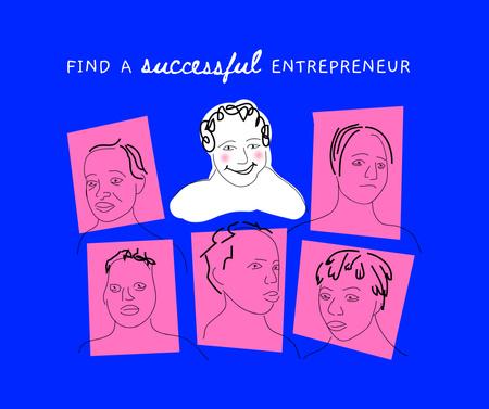 Plantilla de diseño de Funny Entrepreneur portraits Facebook