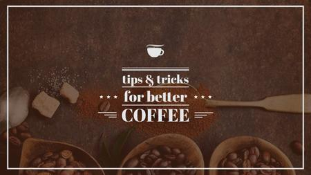 Template di design Brewing Coffee Tips with Roasted Beans Youtube