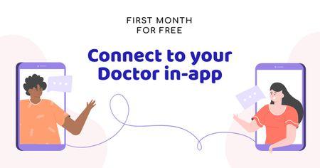 Designvorlage Online Medical Support concept für Facebook AD