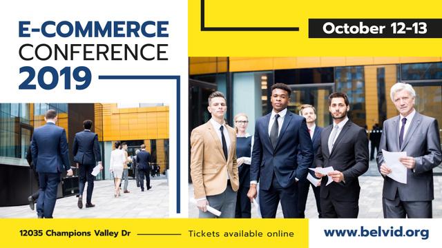 Business Conference announcement Confident Business Team FB event cover Modelo de Design