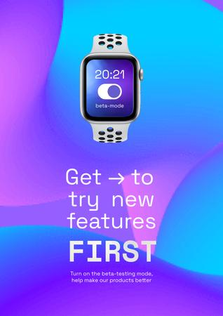 Template di design Smart Watches Startup Idea Ad Poster