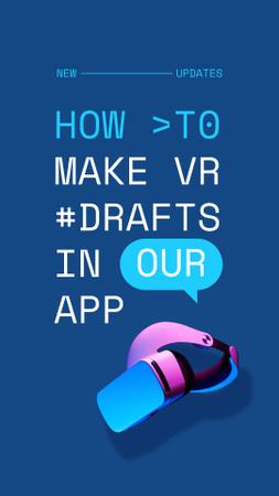 Szablon projektu Startup Idea with modern VR equipment Instagram Story