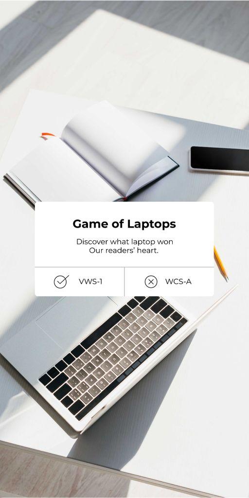 Modern Laptops Review Graphic – шаблон для дизайна