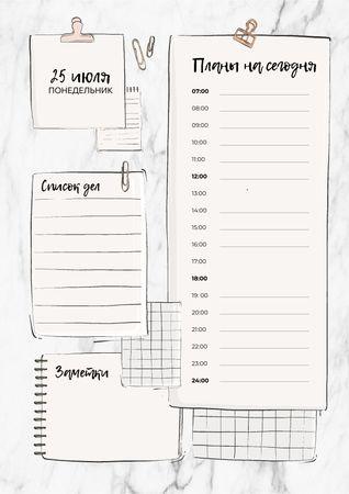 Schedule Planner with Paper Clips Schedule Planner – шаблон для дизайна