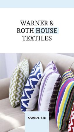 Home Textiles Offer with Bright Pillows Instagram Story Design Template