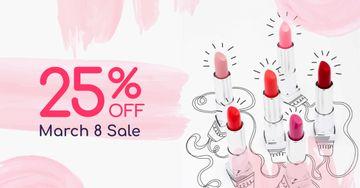 March 8 Lipsticks Sale Offer