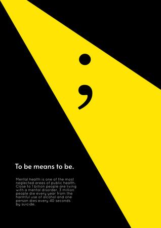 Coverage of Mental Health Social Issue Poster – шаблон для дизайну