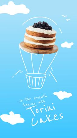 Template di design Funny flying Air Balloon-Cake Instagram Story