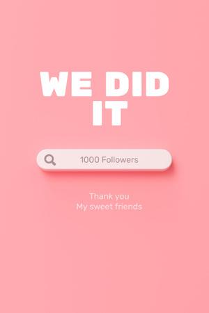 Message to followers Pinterest – шаблон для дизайну
