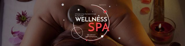 Szablon projektu Wellness spa Ad Twitter
