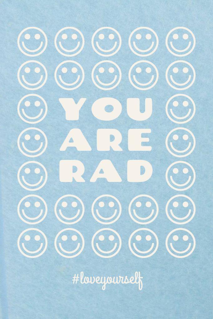 Szablon projektu Mental Health Inspiration with Smiley Emoji Tumblr