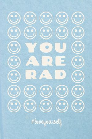 Mental Health Inspiration with Smiley Emoji Tumblr tervezősablon