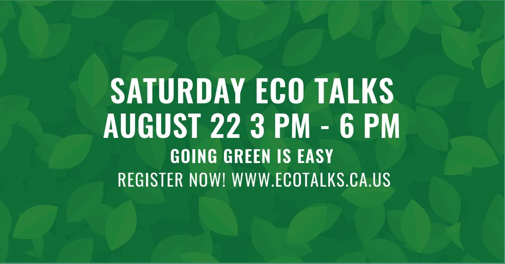 Saturday eco talks on Green leaves pattern — Create a Design