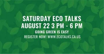 Saturday eco talks on Green leaves pattern