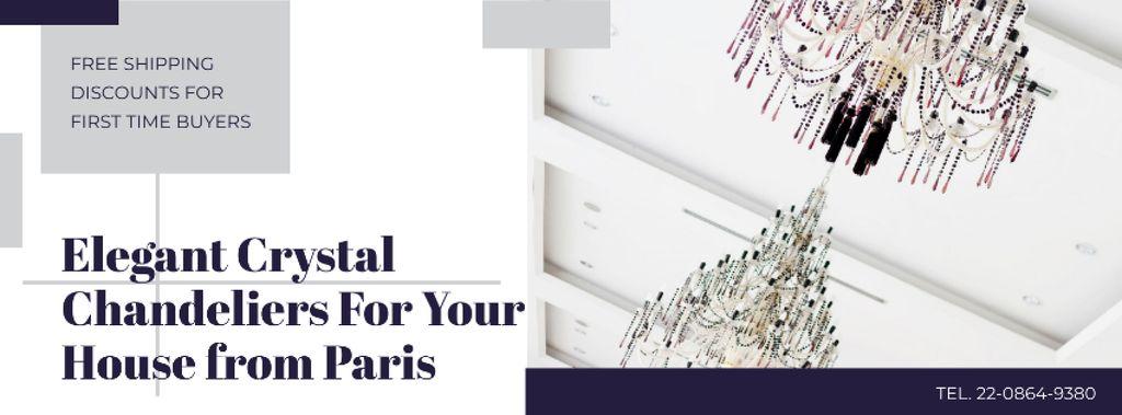 Elegant Crystal Chandeliers Offer in White — Maak een ontwerp