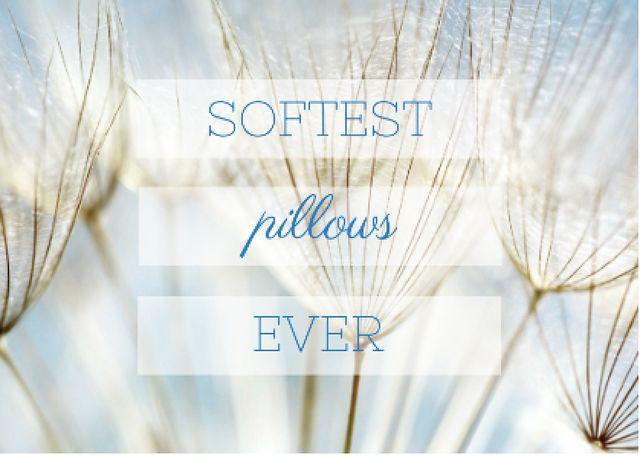Ontwerpsjabloon van Card van Softest pillows advertisement