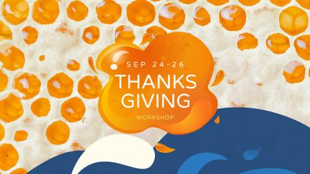 Ontwerpsjabloon van FB event cover van Thanksgiving Holiday Celebration Announcement
