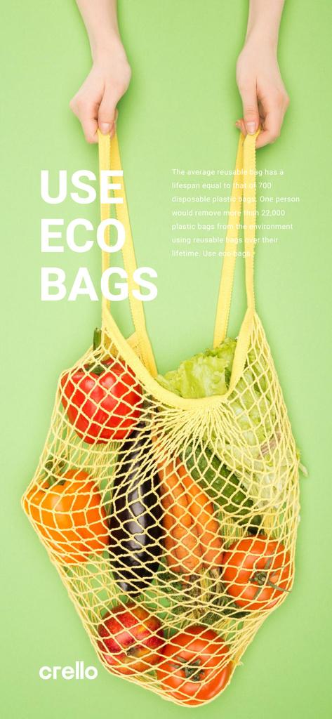 Fresh Vegetables in Net Bag Snapchat Moment Filter – шаблон для дизайну