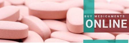 Ontwerpsjabloon van Twitter van online drugstore poster