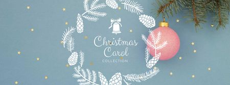 Plantilla de diseño de Christmas Carol Collection Offer Facebook cover