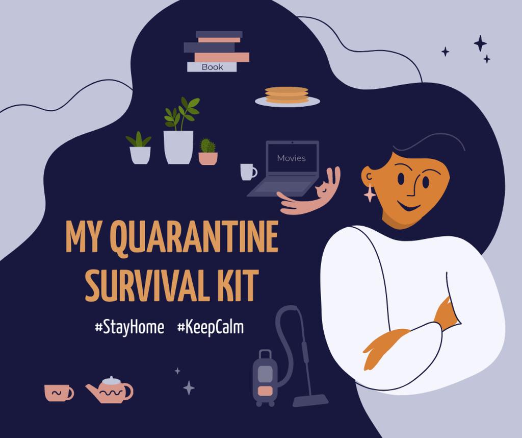 #StayHome Tips for hobbies during Quarantine Facebook Tasarım Şablonu