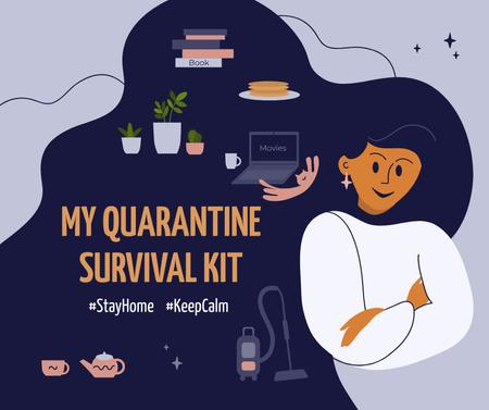 Template di design #StayHome Tips for hobbies during Quarantine Facebook