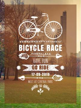 Bicycle race announcement in Park