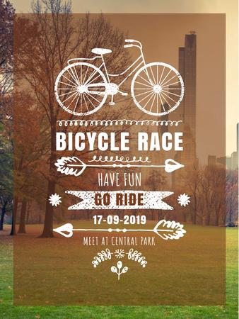 Modèle de visuel Bicycle race announcement in Park - Poster US