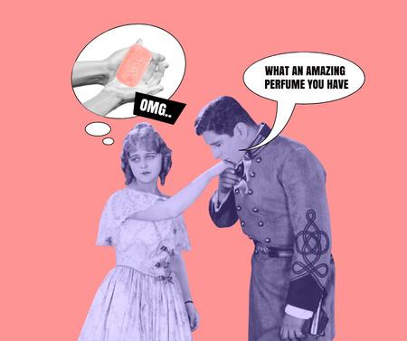 Modèle de visuel Funny Joke about Woman's Scent - Facebook