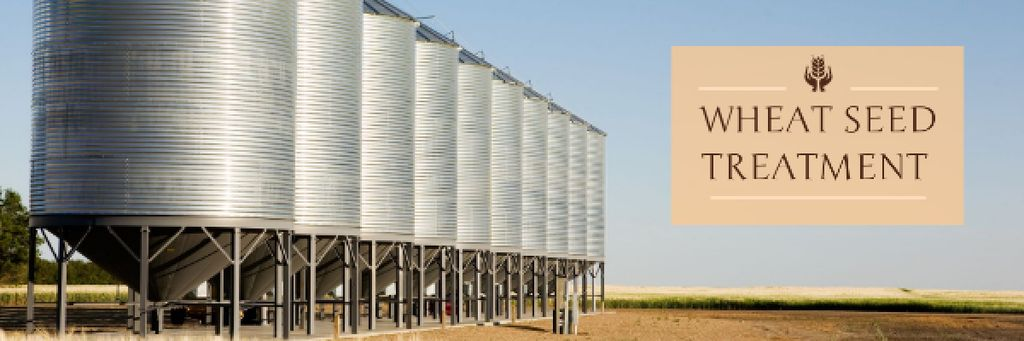 Agriculture with Large Industrial Containers Email header – шаблон для дизайна