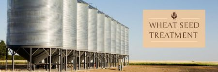 Agriculture with Large Industrial Containers Email header Modelo de Design