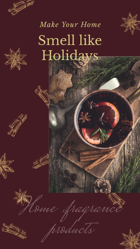 Red mulled Christmas wine — Crear un diseño