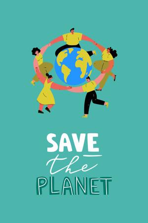 Eco lifestyle Concept with Planet in Hands Pinterest Modelo de Design