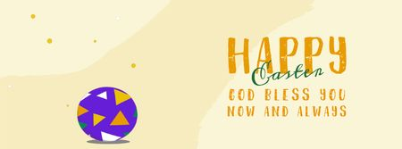 Chick hatching from Easter egg  Facebook Video cover Design Template