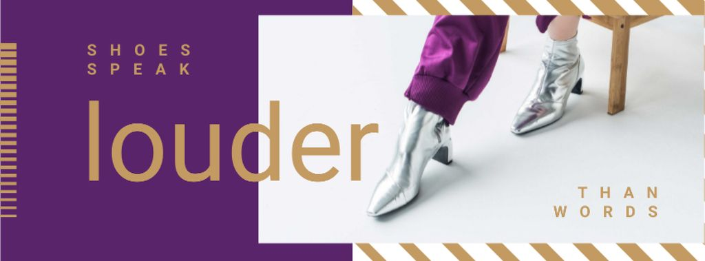 Shoes Offer with Female Legs in Silver Ankle Boots — Modelo de projeto