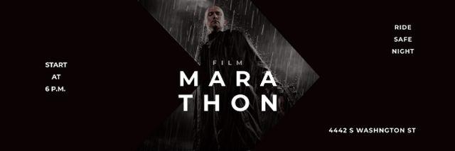 Film Announcement with Man under rain Email header – шаблон для дизайну