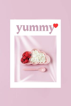 Yummy Cottage Cheese with Raspberries Pinterest Modelo de Design