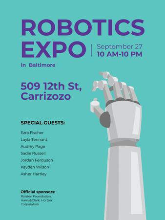 Android Robot hand for expo Poster US – шаблон для дизайна