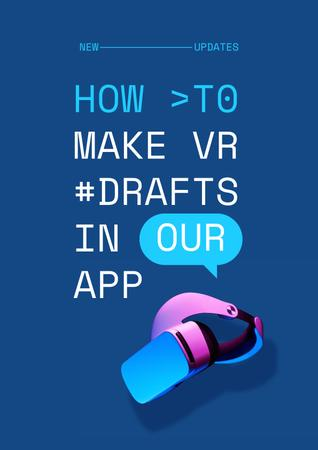 Modèle de visuel Startup Idea with modern VR equipment - Poster